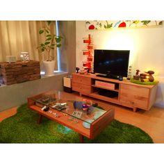 ファブリックパネル/無印良品/IKEA/テレビボード/ラグ/賃貸…などのインテリア実例 - 2014-11-30 01:33:08 | RoomClip(ルームクリップ)