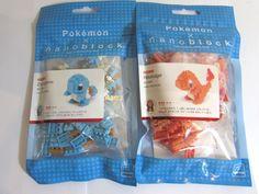 KAWADA NANOBLOCK Japan 2 lot of Pokemon - Hitokage  & Zenigame Toy Block