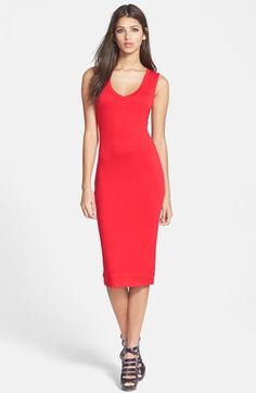 Tildon Double Layer V-Neck Midi Dress available at #Nordstrom - $28 on sale