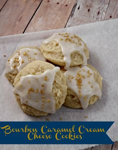 Bourbon Caramel Cream Cheese Cookies