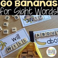 Freshen up your sight word center with this fun activity! Place the included sight word cards along with a set of Bananagram®️ letters at your center.