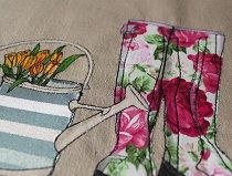 Details/Close ups--this woman does beautiful textile art--well worth the time spent meandering through her work
