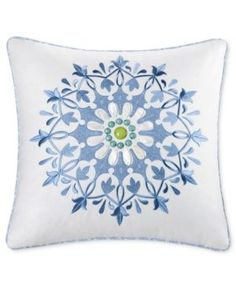 "Echo Sardinia 18"" Square Decorative Pillow - White"