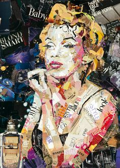 "Saatchi Art Artist: Ines Kouidis; Paper 2013 Collage ""Blond Smart Baby - SOLD"""