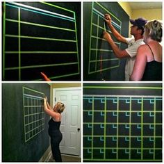 chalkboard wall command center, chalkboard paint, paint colors, painting, wall decor, Making the washi tape calendar