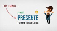 Presente irregular (1/2) - Tapas de español Presente Simple, Videos, Youtube, Tapas, Irregular Verbs, Activities, Shapes, Youtubers, Youtube Movies