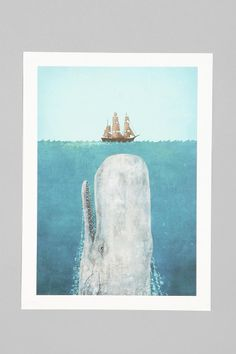 Terry Fan For Society6 The Whale Print Online Only
