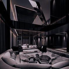 Mansion Interior, Dream House Interior, Luxury Homes Dream Houses, Dream Home Design, Modern House Design, Dark House, Home Building Design, Dark Interiors, Luxurious Bedrooms