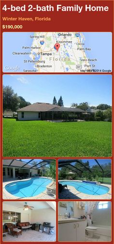 4-bed 2-bath Family Home in Winter Haven, Florida ►$190,000 #PropertyForSale #RealEstate #Florida http://florida-magic.com/properties/88191-family-home-for-sale-in-winter-haven-florida-with-4-bedroom-2-bathroom
