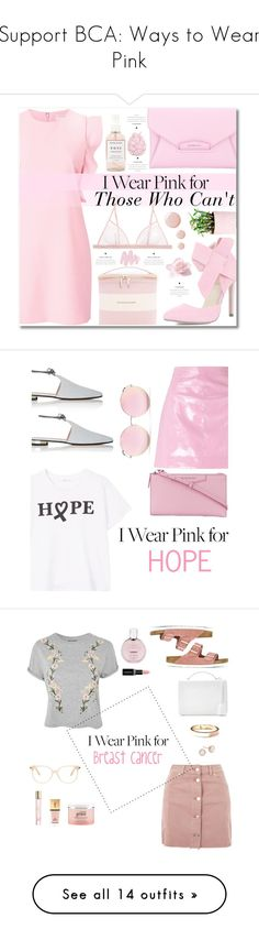 """Support BCA: Ways to Wear Pink"" by polyvore-editorial ❤ liked on Polyvore featuring breastcancerawareness, Witchery, La Perla, Herbivore, Kate Spade, Givenchy, Obsessive Compulsive Cosmetics, Zara Home, Topshop and Miss Selfridge"
