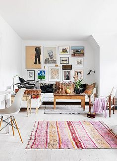 at home with: designer trine skollers.