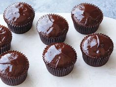 Chocolate Ganache Cupcakes recipe from Ina Garten via Food Network