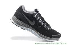 online store 4d797 9b772 meilleurs chaussures de running Hommes Nike LunarGlide 4 Mesh Noir Gray