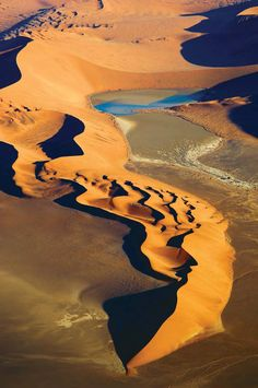 Photos: Meet the Newest World Heritage Sites - Namib Sand Sea, UNESCO World Heritage site. It covers nearly square miles in Namibia. Africa Nature, Places Around The World, Around The Worlds, Deserts Of The World, Les Continents, Desert Life, Namib Desert, Belleza Natural, Africa Travel