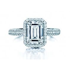 From the BIRKS SQUARE PHILLIPS Collection, this platinum diamond engagement ring has a 1.50ct-1.59ct emerald-cut diamond, colour grade GH and clarity grade VS. Handcrafted with Canadian diamonds. #BlueBox via @Maison Birks