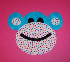 Fabric Applique TEMPLATE Pattern ONLY FuNKy MonKeY....NEW. $1.50, via Etsy.