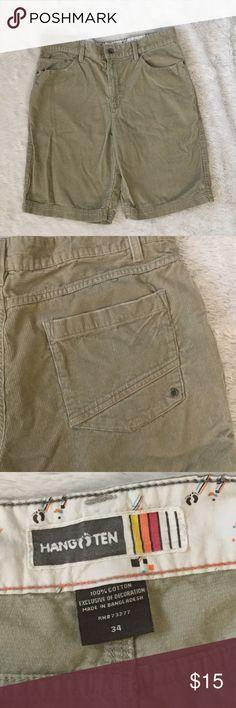 Corduroy shorts Corduroy shorts by Hang Ten.  Size 34. Preloved. Bundle and save 💰 hang ten Shorts
