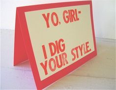 I want to carry around a bunch of these and hand them out to stylish people I see. Vintage Valentines, Happy Valentines Day, Ghetto Fabulous, Heart Day, Love Days, Love Letters, Card Making, Booth Ideas, Crafty