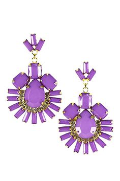 Purple Gemstone Earrings  $16.00