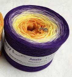 Amelie - Gradient Yarn - Purple Cotton Yarn - Purple Acrylic Yarn - Yellow Cotton Yarn - Yellow Acrylic Yarn - Wolltraum Yarn - Ombré Yarn by MelodyyByWolltraum on Etsy