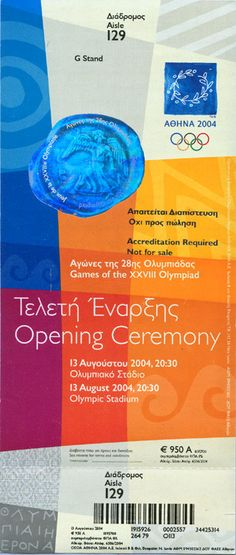 Athens 2004 Tickets