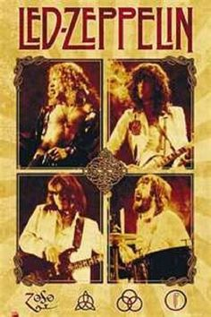 An awesome Led Zeppelin poster! Live pics of Robert Plant, Jimmy Page, John Paul Jones, and John Bonham! Ramble On over and check out the rest of our amazing selection of Led Zeppelin posters! Need Poster Mounts. Led Zeppelin Poster, Led Zeppelin Live, Robert Plant Led Zeppelin, Hard Rock, Rock Posters, Band Posters, Music Posters, Pop Rock, Classic Rock