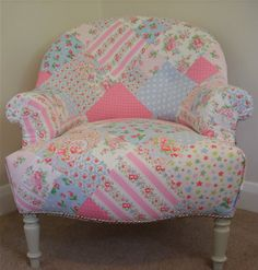 Cath Kidston Antique Patchwork Armchair    One of these would be perfect in the corner!