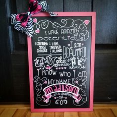 I was given this quote (author unknown) and asked to make a sign with it by a friend if mine. I personalized the quote by adding the name. I just love it! Made by Danica 2015