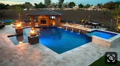 Browse our beautiful, custom built swimming pools and spas. Our designs start with understanding your family and your li… – pool ideas Backyard Pool Landscaping, Backyard Pool Designs, Swimming Pools Backyard, Swimming Pool Designs, Lap Pools, Indoor Pools, Backyard Cabana, Landscaping Tips, Luxury Swimming Pools
