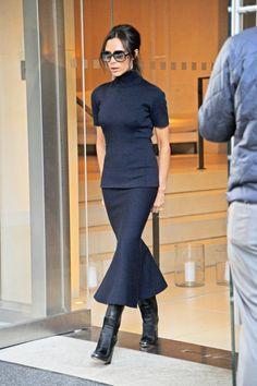 Victoria Beckham Sonbahar/Kış sezonunun etek trendini belirledi.