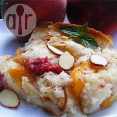 Peach Cobbler (Amerikanischer Pfirsichauflauf) @ de.allrecipes.com