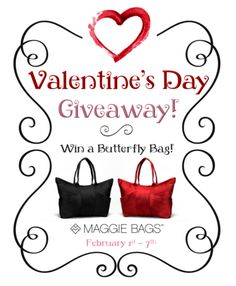Be Our Valentine: A Maggie Bags Giveaway! #MaggieBags #win #giveaway #valentine