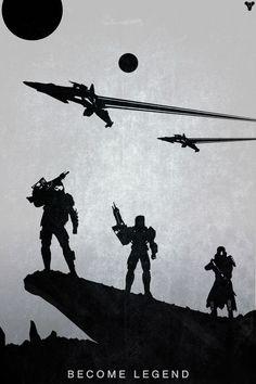 Become Legend - Destiny Minimalist Poster