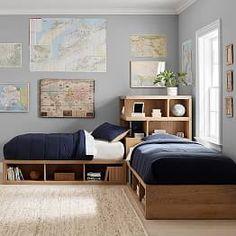 Store-It Corner Bed Unit Superset – Designs Ideas Kids Bedroom Designs, Boys Bedroom Decor, Kids Room Design, Bedroom Sets, Bedding Sets, Kids Bedroom Boys, Bedroom For Twins, Twin Bedroom Ideas, Master Bedroom