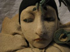 Rare Lenci Pierrot Boudoir Doll via Etsy. A very sinister fellow.