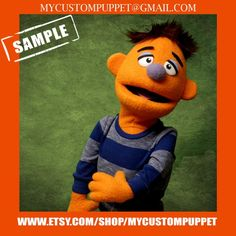 """Custom pro puppet makers """" muppet type """" Portrait Puppet pro puppet From Your Design , photo or Ours! Professional Puppets, Custom Puppets, Puppet Making, Can Design, Are You The One, Portrait, Handmade Gifts, Sky, Fictional Characters"""