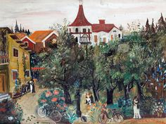 Erixson, Sven (1899-1970) - 1926 Summer Night in Tumba (Private Collection) by RasMarley, via Flickr