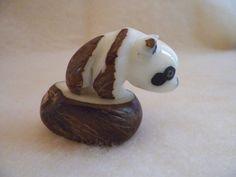 handmade tagua nut polar bear hand carved by WonderSeedJewelry, $22.00
