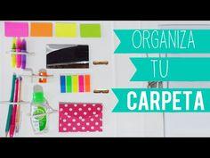 Organiza tu carpeta/cuaderno - decora tu carpeta - Tutoriales Belen - YouTube
