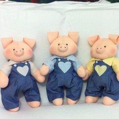 Foto: Três porquinhos #artesanato #artesanal #festainfantil