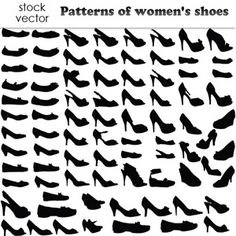 Women Shoes Vectors Pattern