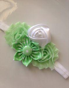 Baby Headband  Vintage Headband Shabby Headband by Cutiesdressup
