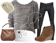 winterliches Freizeit-Outfit