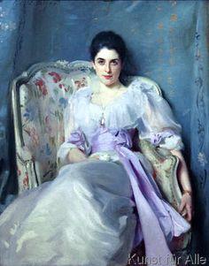 John Singer Sargent - Portrait der Gertrude, Lady Agnew of Lochnaw