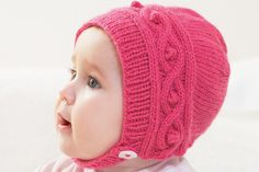 Free Knitted Cable Bonnet Pattern #knitting #free #pattern #bonnet