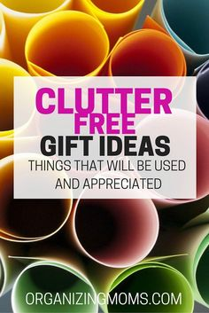 Looking for clutter free gift ideas for everyone on your list? Creative, useful gift ideas for kids, parents, adults, grandparents, boyfriends, girlfriends, and more!