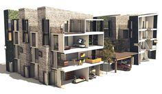 high density housing  Hall Black Douglas