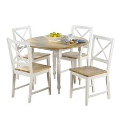 $399 5pc Virginia Dining Set - White.Opens in a new window