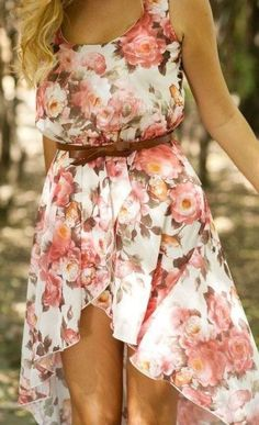 floral high low dress summer outfits womens fashion clothes style apparel clothing closet ideas