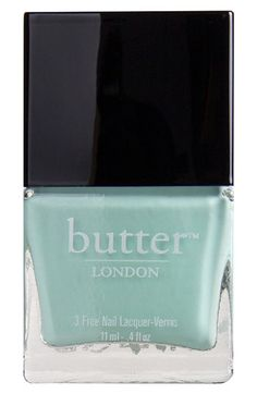 Our T-Bar flats come in the same pretty color as this Butter London polish!  Perfect match.